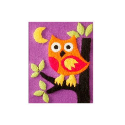 Orchidea Owl Felt by Number Kit