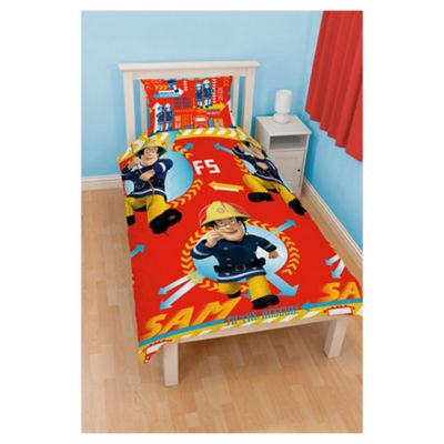 Fireman Sam Alarm Duvet Cover Set Single