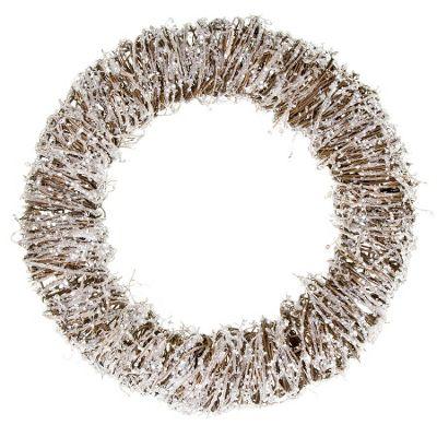 Silver Glitter Christmas Door Wreath
