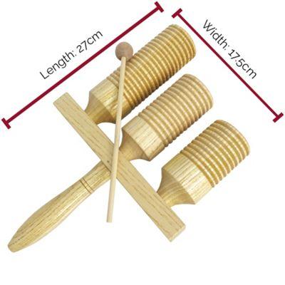 A-Star 3 Tone Wooden Agogo