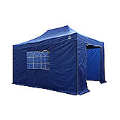 All Seasons Gazebos, Heavy Duty, Fully Waterproof, 3m x 4.5m Standard Pop up Gazebo Package in Royal Blue