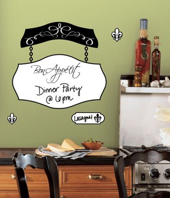Kitchen Wall Stickers - Bon Appetit Dry Erase