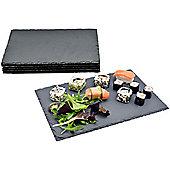 Argon Tableware Rectangular Natural Slate Serving Plates / Platters - Set Of 6