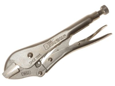 C H Hanson Manual Locking Straight Jaw Pliers 250mm (10in)