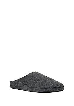 F&F Melton Mule Slippers - Grey