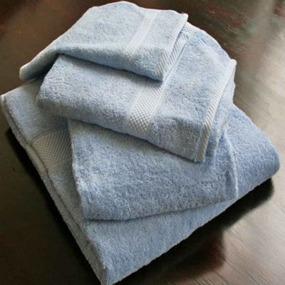 Homescapes Turkish Cotton Light Blue Hand Towel