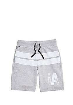 F&F Los Angeles Skate Shorts - Grey/White