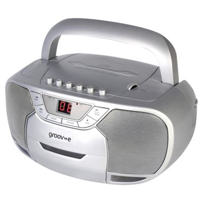 Groov-e Boombox GVPS823 with CD and cassette player