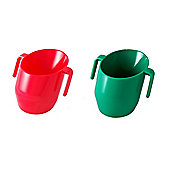 Doidy Cup Bundle - Red And Green - 2 Cups Supplied