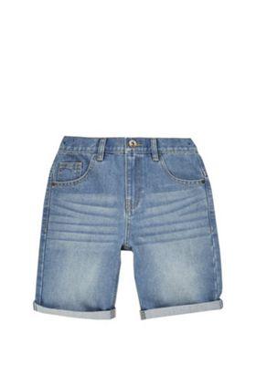 F&F Turn-Up Denim Shorts Blue 5-6 years