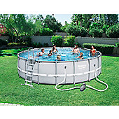 Bestway 18X52 Power Steel Frame Swimming Pool Set