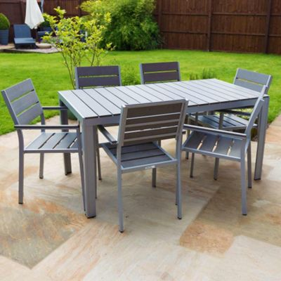 Buy Outdoor Furniture Polywood Dining Table Set 6 Seater From Our