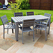Outdoor Furniture Polywood Dining Table Set - 6 seater