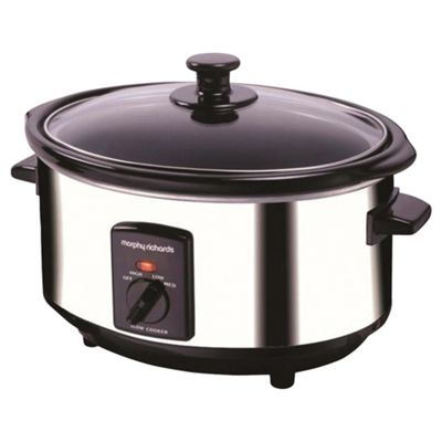 Morphy Richards 48710 3.5 litre Oval Slow Cooker, Stainless Steel