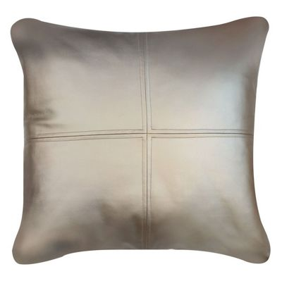 Smooth Champagne Cushion with Soft Feather Fill Living Area Decor
