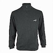 Woodworm Golf Half Zip Sweater Grey Xl