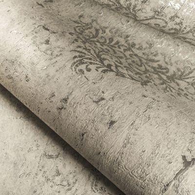 Boutique Cream / Pale Gold Cork Medallion Wallpaper