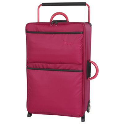 Buy IT Luggage World's Lightest 2 wheel Large Persian Red Suitcase ...