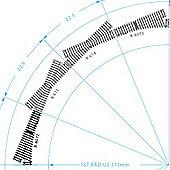 Hornby R8072 Left Hand Standard Point Track 00 Gauge