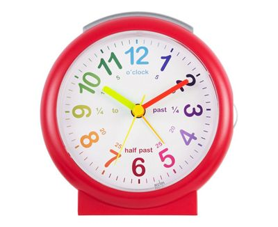 Acctim 15214 'Lulu 2' Red Time Teaching Bold Sweeping Seconds Quartz Alarm Clock