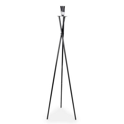 Camden Tripod Floor Lamp, Gloss Black