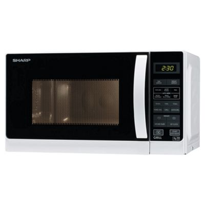 Sharp R662WM Microwave Oven with Grill, 20L  - White