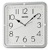 Seiko QXA685S Analogue Wall Clock│12 Hour Display│Square Shape│Silver Case