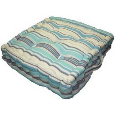 Homescapes Cotton New England Stripes- Floor Cushion, 50 x 50 cm