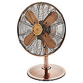 "Tesco DF1217C 12"" Metal Desk Fan Copper"