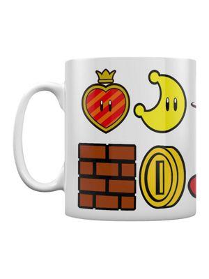 Super Mario Odyssey Icons Boxed 10oz Ceramic Mug, White