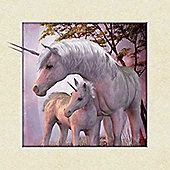 Unicorn Mother and Baby - Framed 5D Art