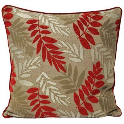 Riva Home Fern Red Cushion Cover - 55x55cm