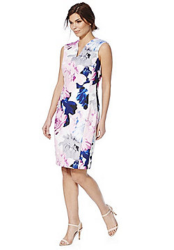 Roman Originals Floral Print Shift Dress - Pink