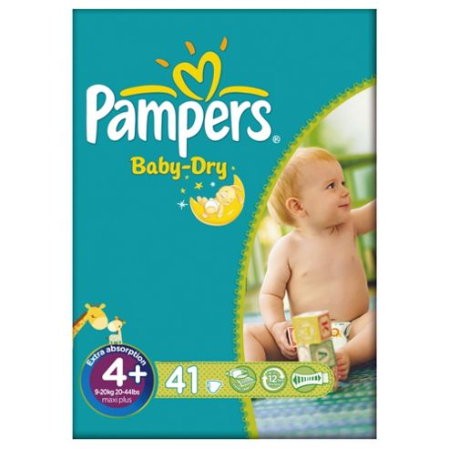 Pampers Baby Dry Size 4+ Essential Pack - 41 nappies