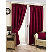 Hamilton McBride Belvedere Lined Pencil Pleat Curtains - Red