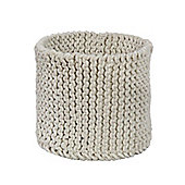 Homescapes Basket - Knitted - Cream - 42 x 37 cm