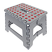 Country Club Folding Step Stool, Grey