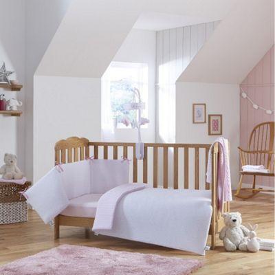 Clair de Lune 2pc Cot/Cot Bed Bedding Set (Stars & Stripes Pink)