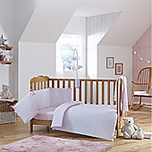 Clair de Lune 2pc Cot/Cot Bed Bedding Set (Stars & Stripes Pink)