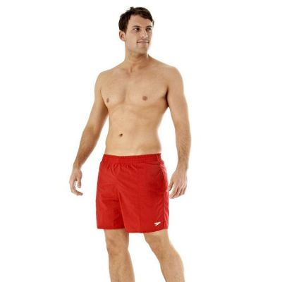 Speedo Men's Solid Leisure Swimming Shorts Small China Red