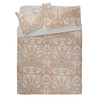 buy tesco paisley duvet set double taupe from our double. Black Bedroom Furniture Sets. Home Design Ideas