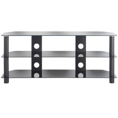 VonHaus Glass TV Stand with 3 Shelves for upto 50inch; TVs