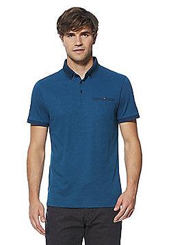 F&F Signature Premium Cotton Polo Shirt - Turquoise