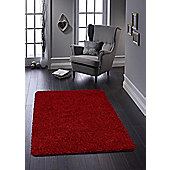 Buddy Washable Shaggy Stain Free 100x150 Red