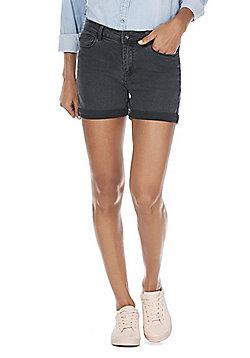 Vero Moda High Waisted Denim Shorts - Grey