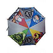 Avengers Boys 'Grey' Full Panel Automatic Nylon Umbrella