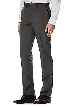F&F Twill Slim Fit Trousers - Grey