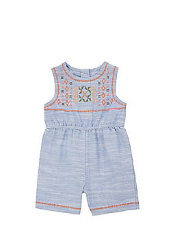 F&F Embroidered Jersey Playsuit - Blue