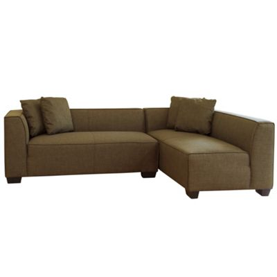 Sofa Collection Honolulu Corner Suite without Ottoman Brown