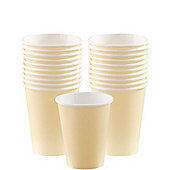 Ivory Cups - 266ml Paper Party Cups - 20 Pack